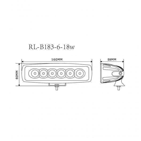 Foco Faena Led maquinaria industrial RL-B183-6-18W 4