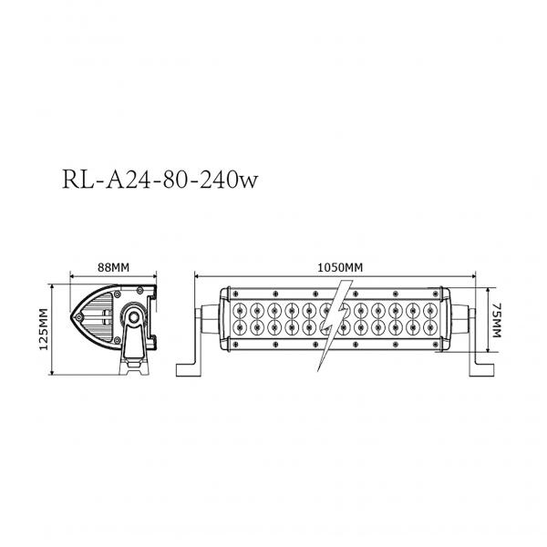 barra led doble high power offroad 4x4 RL-A24 80-240W-3