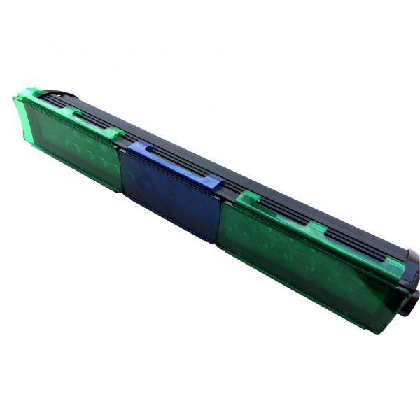 filtro de policarbonato para barra led luz verde y azul