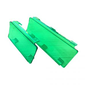filtro de policarbonato para barra led verde
