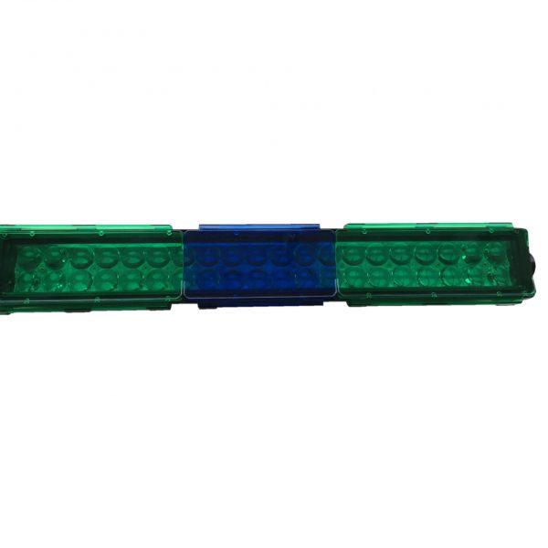 filtro de policarbonato para barra led verde azul