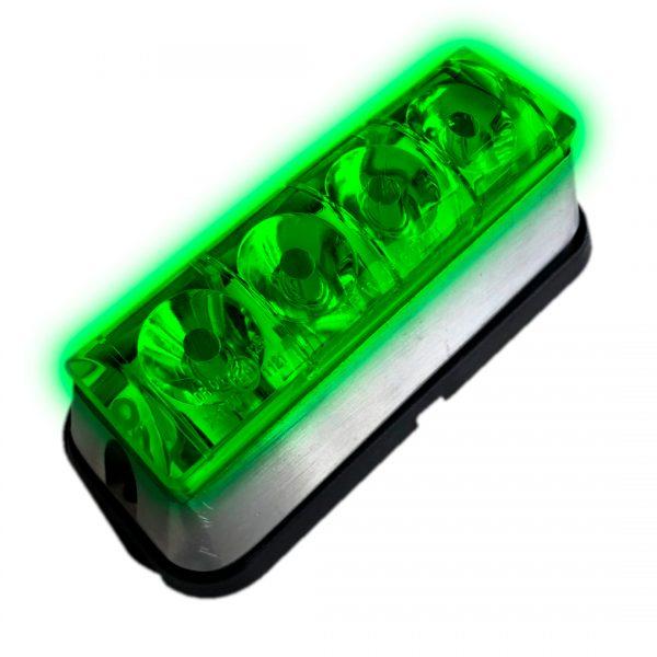 baliza led emergencia verde
